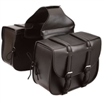 Leather Motorcycle Saddlebags: Detachable Zip-Off