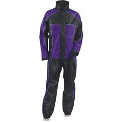 Lightweight Women S Motorcycle Rain Gear Suit Purple Amp Black