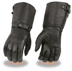 Premium Deerskin Ladies Leather Gauntlet Motorcycle Gloves