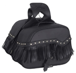 Fringe Motorcycle Saddle Bags: Zip-Off Luggage