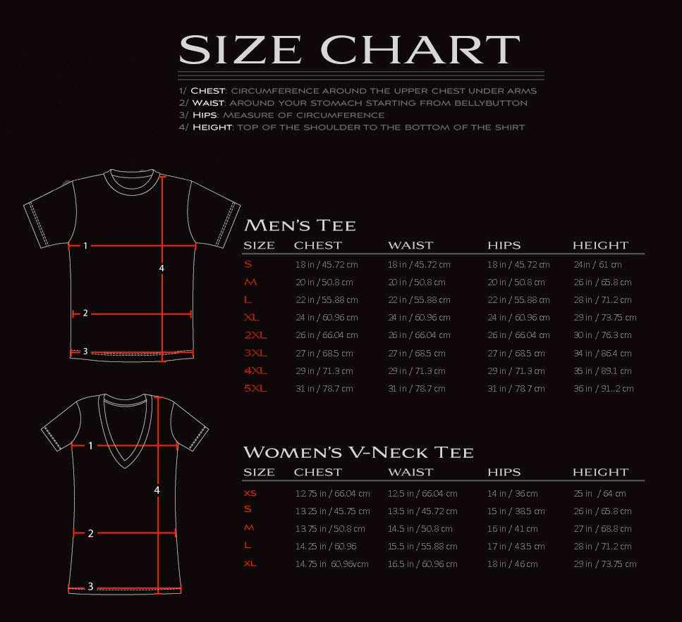 dga tees size chart