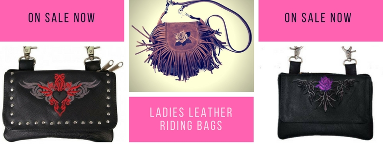 ladies leather riding bags