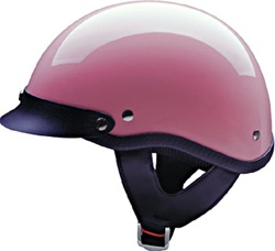 Pink Gloss Hci Shorty Dot Women S Motorcycle Half Helmets
