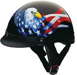 Motorcycle Half Helmet For Men Eagle Amp American Flag