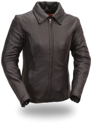 Women S Black Leather Motorcycle Jackets 20 Off First