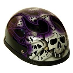 Purple Flames Skull Novelty Motorcycle Helmets Sale