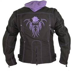 Sale Purple Tribal Rose Motorcycle Jackets Free Shipping